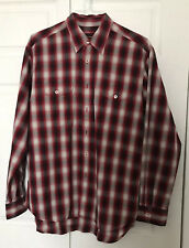 Red Lucky Brand Vintage Men Button Down Western Shirt Size M