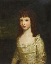 18th CENTURY Master Ritratto di una ragazza abito bianco dipinto ad olio Joshua Reynolds