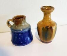 Small Vintage European Pottery Vases