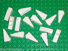 15 x white slope brick LEGO ref 4286 / set 10019 10129 6982 7744 7658 7659 6286