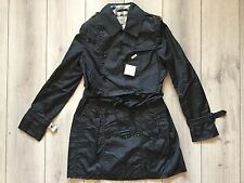 new 100 % authentic BURBERRY women black trench coat Size XL ( It-42)