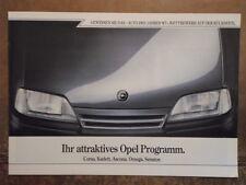 OPEL RANGE orig 1987 Swiss Mkt Sale Brochure - Corsa Kadett Ascona Omega Senator
