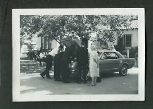 Car Photo Expensive Mechanics in Tuxedos Working 1965 FORD Mustang 440131