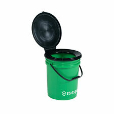STANSPORT 271555 BUCKET STYLE PORTABLE TOILET 5 GAL 300 LB CAMPING OUTDOOR NEW