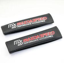 NEW JDM MAZDASPEED Carbon Fiber Style Racing Seat Belt Shoulder Pads Cushion