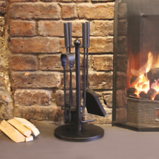 5pc Fire Companion Set Fireside Cast Iron Fireplace Poker Brush Tongs Tools Coal