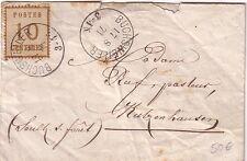 ALSACE - BUCHSWEILER - 10c N°5 SUR LETTRE DU 17-8-1871.