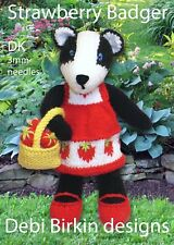 BADGER  toy knitting pattern - animal bunny wild bear