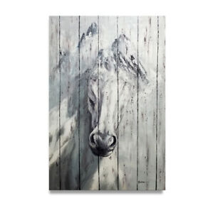 Hungryartist - NY artist - Large modern original oil painting of a horse 36x24