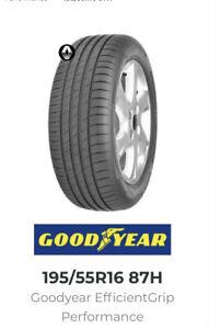 New 195 55 R16 Goodyear EfficientGrip Performance 195/55R16 87H Summer
