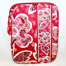 "VERA BRADLEY Medium Tablet E-Reader Sleeve Rosy Posies Pink Red Floral 8"" x 10"""