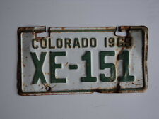 1969 COLORADO motorcycle size trailer License Plate XE 151 CO Alamosa county