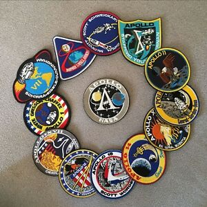 13 Pcs Embroidery Patch US NASA Apollo Space Mission Collage Voyaer Emblem Badge