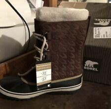 Brand New Sorel 1964 Tobacco Black Graphic 15 Winter Boots Size 8