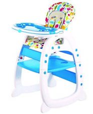 Evezo Rose Baby High Chair, Convertible Play Table and Feeding Tray, 2 in 1