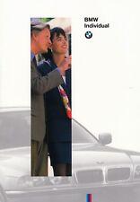 BMW INDIVIDUAL E36 E34 Touring E38 E31 Ausstattungen Farben Prospekt 1995 70