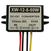 DC12V To DC5V 10A 50W Step Down Power Supply Converter Regulator Module New