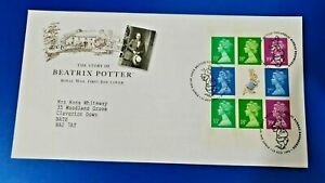 GB First Day Cover 1993, The Story of Beatrix Potter, Peter Rabbit, Booklet Pane