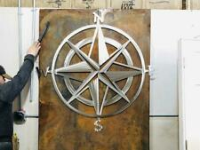 Nautical Star and Compass in polished steel ! Metal wall art and home decor.