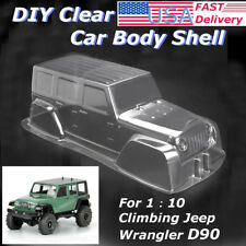 Clear PVC Climbing Jeep Car Body Shell for 1:10 Scale RC Crawler Car Truck D90