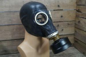 RUS Schutzmaske Gasmaske GP 5 SchM-41M schwarz unbenutzt Latex Filter 0 1 2 3 4