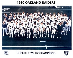 1980 OAKLAND RAIDERS 8X10 TEAM PHOTO FOOTBALL PICTURE NFL SBXV CHAMPS