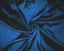 DARK BLUE TEAL FUAX SILK TAFFETA FABRIC BRIDESMAID DRESS WEDDING DRAPE DECOR