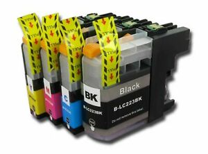 NonOEM Lot Ink Cartridges for Brother LC223 CMYK for DCP J562dw J4120dw Printers