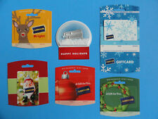 5 BLOCKBUSTER CHRISTMAS GIFT CARDS WITH BACKERS -SNOWGLOBE *NO VALUE ON CARDS*
