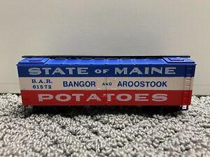 Model Power HO Scale State of Maine Potatoes Box Car Bangor & Aroostook 61572