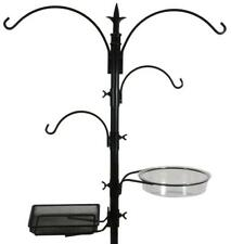 Sorbus Bird Feeding Bath Station, Metal Deck Pole for Bird Feeders, Great for