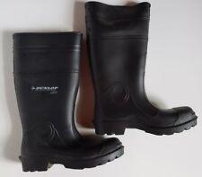 Dunlop Tall Black Rubber Rain Boots Men's Sz 8 Worn One Time!