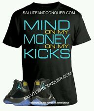 Jordan 11 GAMMAS T shirt SMALL (more sizes available S-4x) Mind on my Money