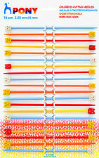 Pony Knitting Pins - Childrens Plastic - Assorted Card - P61682