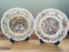 Royal Doulton Brambly Hedge Plates Set Birthday And Engagement Excellent Cond