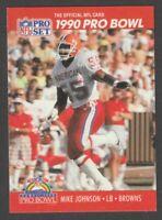 1990 Pro Set NFL Football Mike Johnson Front / Derrick Thomas Reverse Card #373