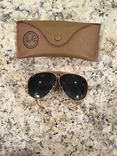 Ray-Ban Bausch & Lomb Aviator Rb3 mini outdoorsman 12k Gold; Green lens; Vintage