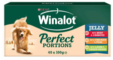 Winalot Perfect Portions Dog Food Chunks in Jelly Beef 40 x 100g