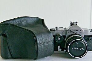 Konica AutoRex, Hexanon 52mm F/1.8 Lens Full/Half framed Mint + Case