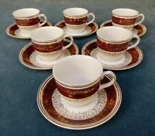 JOHN MADDOCK & SONS ENGLISH IVORY WARE COFFEE  SET x 6