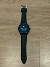 Fossil Q Gen 3 Explorist Smartwatch 46mm Stainless Steel, Black Silicone FTW4005