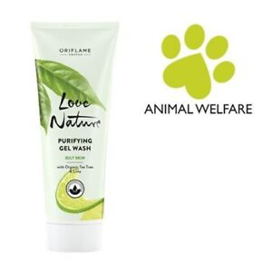 Oriflame LOVE NATURE Purifying Gel Wash with Organic Tea Tree & Lime