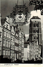Ulica Piwna in Gdansk  B/W photo card