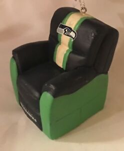 Seattle Seahawks Reclining Chair Christmas Tree Holiday Ornament FREE USA SHIP