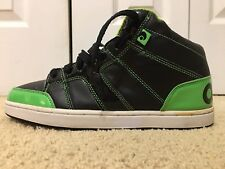 Osiris Convoy Mid, 12711164, Men's Skateboarding Shoes, Black / Green, Size 8