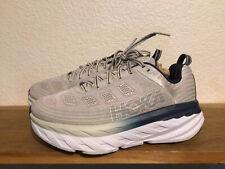 Women's HOKA ONE ONE Bondi 6 Running Shoes Sz 8 WIDE Gray Blue Cushioned Walking