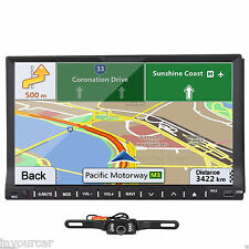 7 Inch Double 2DIN Stereo Car CD DVD Player GPS Navi FM Touch Radio In Dash+CAM