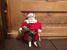 2001 Possible Dreams Clothtique Mistletoe Merriment Santa Claus Figure