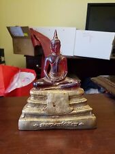 Vintage Translucent Red And Gold Buddha Tozai Home