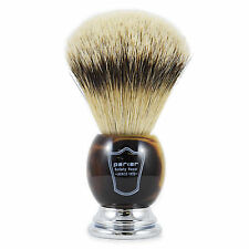 Parker HHST Large Silvertip Badger Hair Shaving Brush with Faux Horn Handle